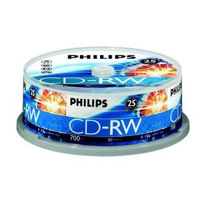 Philips Cd-rw reinscriptibil 25 buc cake-box