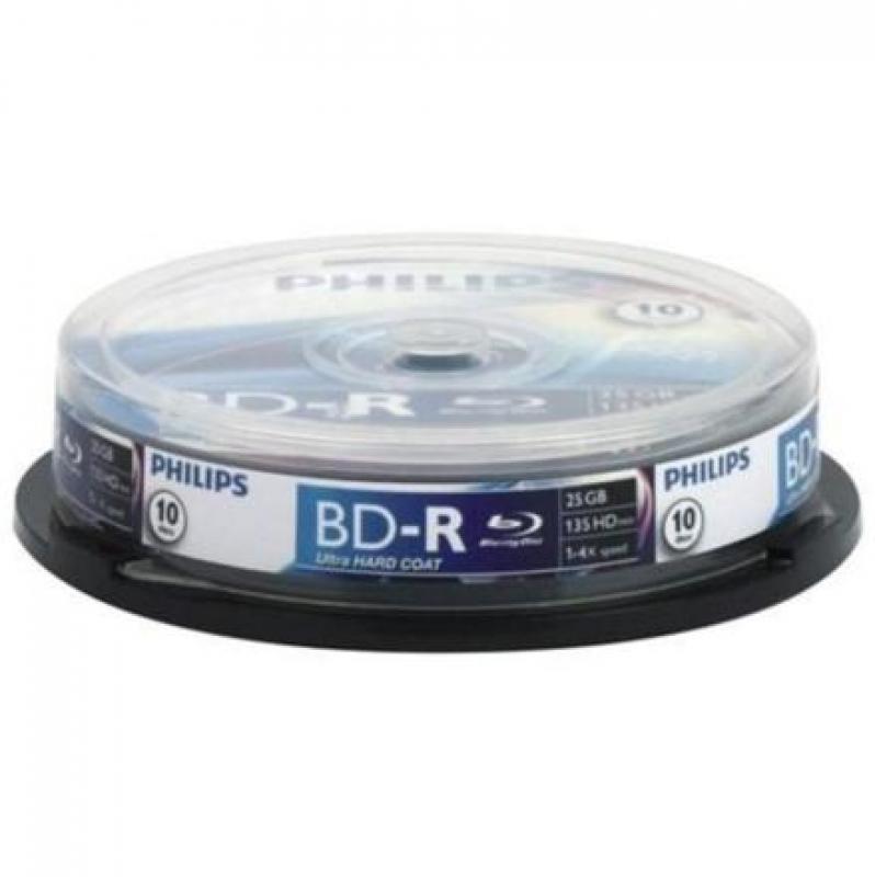 Philips Blu-ray 25GB 6x cake*10