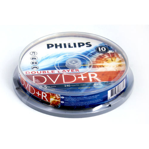 Philips DVD+R 8,5GB 8x cake*10 Double Layer