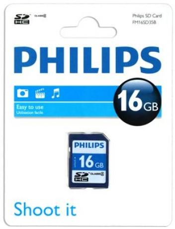 Philips card 16GB secure digital SDHC class4