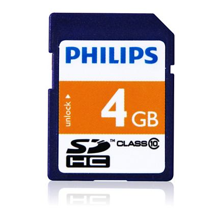 Philips card 4GB secure digital SDHC class4