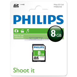 Philips card 8GB secure digital SDHC class4