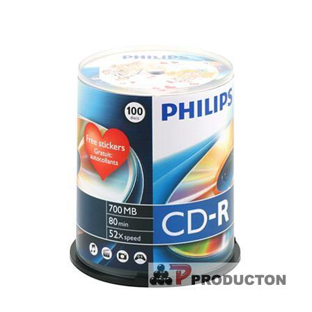 Philips Cd-r 52x cake*100